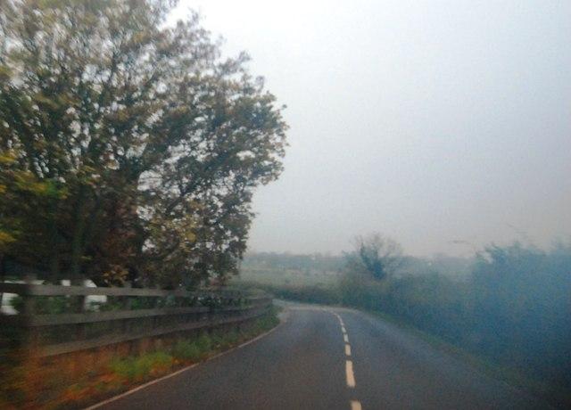 Bullockstone Rd in the mist