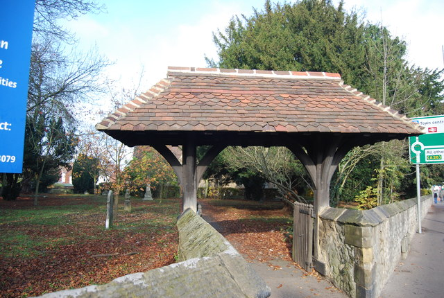 Lych gate, St Stephen's Church