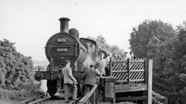 Heath Park Halt, with RCTS Rail Tour