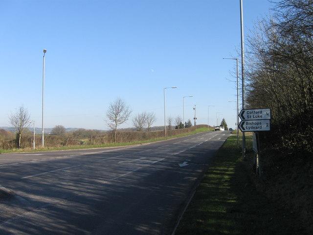 Turning for Cotford St Luke, B3227