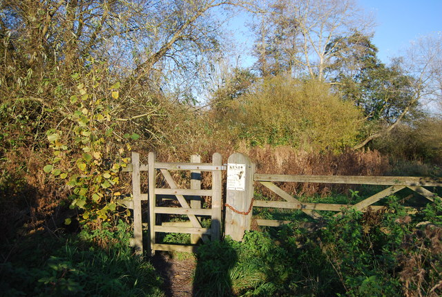 Gate on the path by the Great Stour