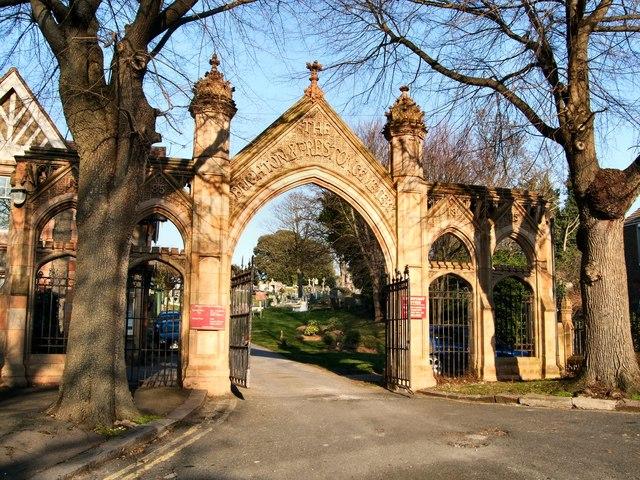 Entrance to Downs Crematorium
