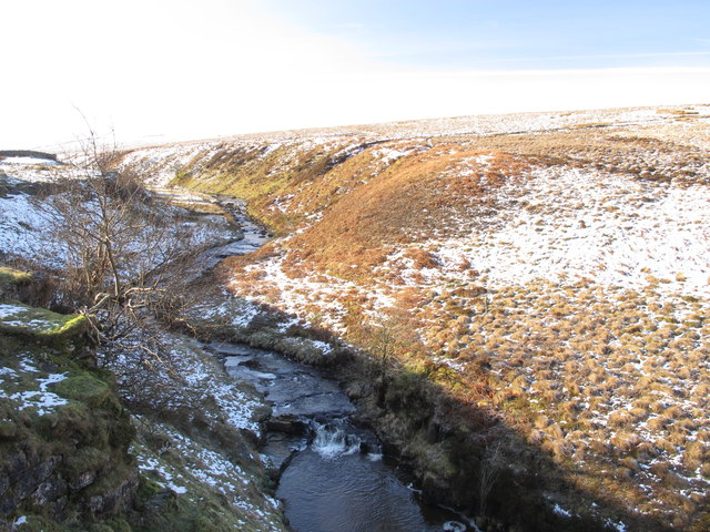 Gilderdale Burn downstream from Tutman's Hole