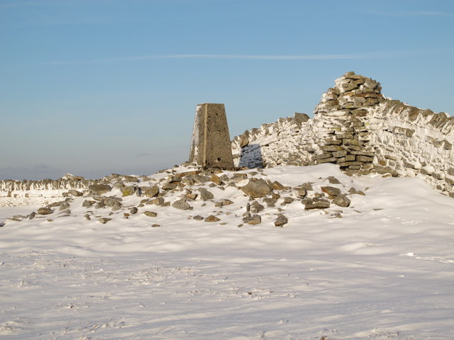 The trig point on Grey Nag