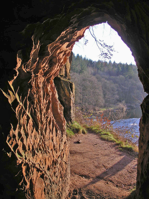 Looking out of Lacy's Caves