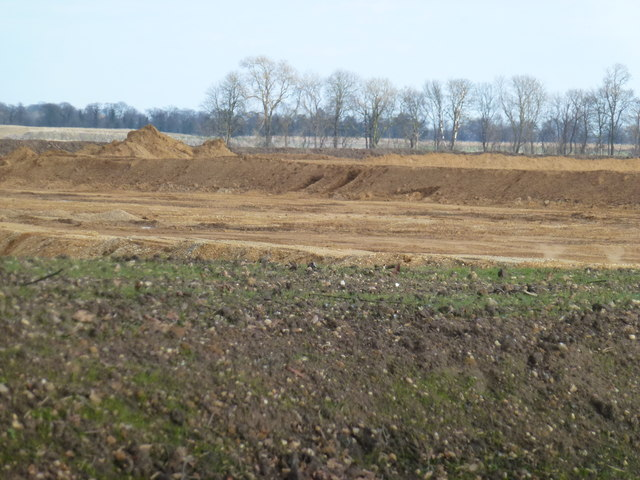 Sand and gravel excavation between Thorney and Eye