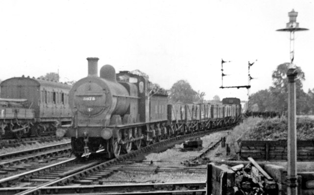 Down freight train at Ashchurch Level-crossing