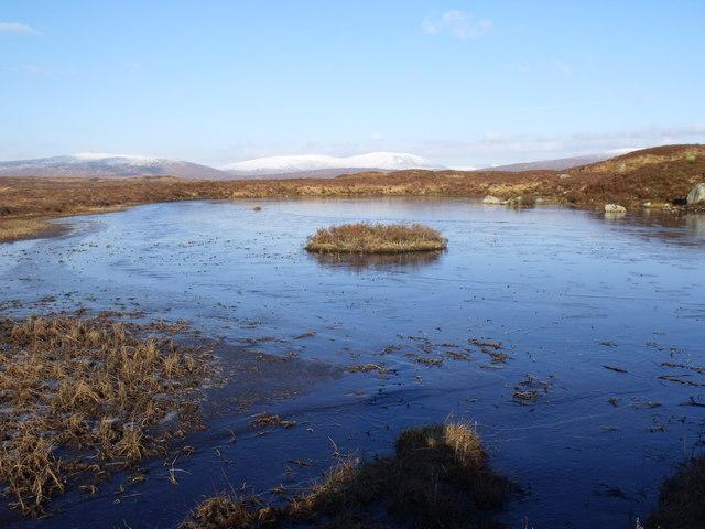 Islet on lochan between Lochan Beinn Chaorach and Loch Ba on Rannoch Moor
