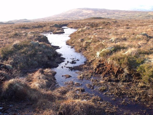 Lead between lochans on Rannoch Moor