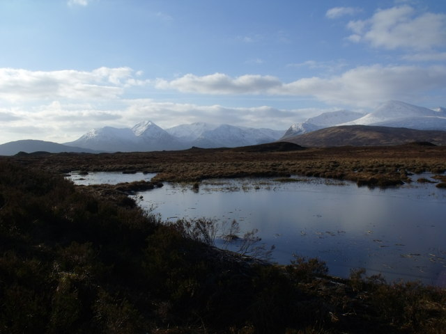 Minor lochan next to west shore of Loch Ba