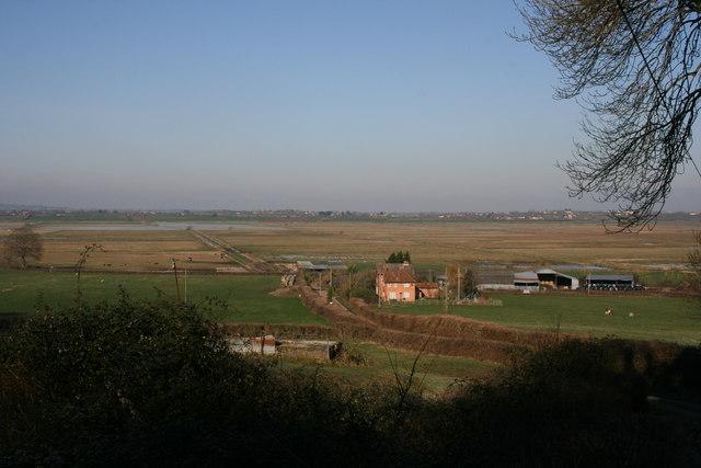 Underhill Farm and the moors, Fivehead
