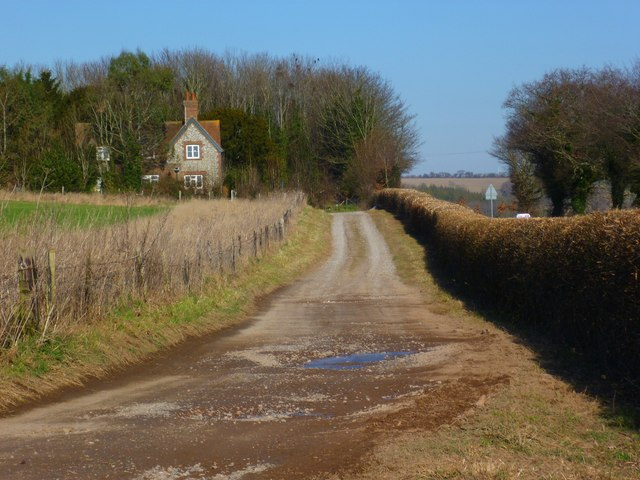 Private track parallel to the A286 south of West Dean
