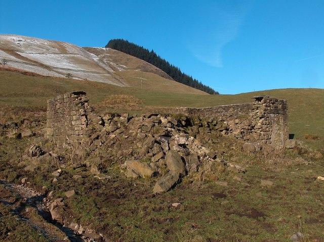 Ruins of house in Alport Valley
