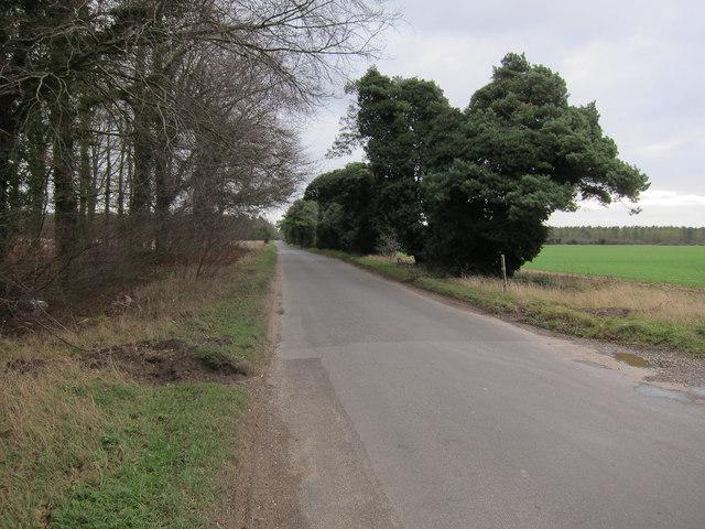 Minor road to Mundford