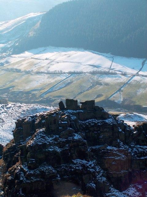 Sentinel - Alport Castles Tower surveys the Alport Valley