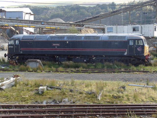 """Waverley"" class 47 awaits its fate at Meldon Quarry"