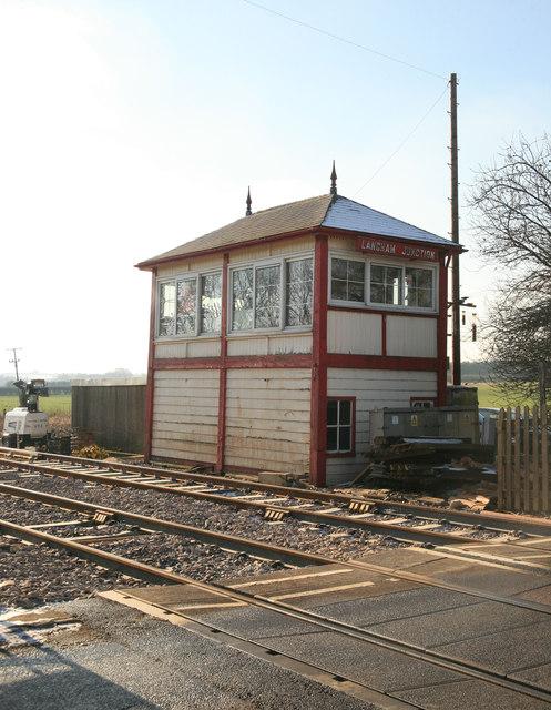 Langham junction signal box