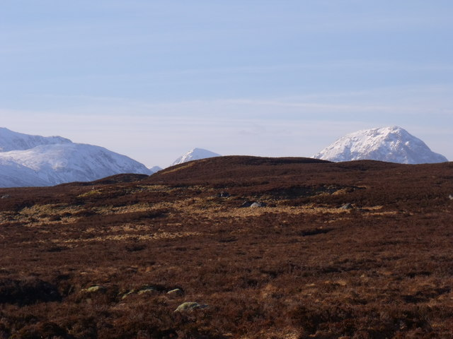 Ridge ground to the west of Loch Ba on Rannoch Moor