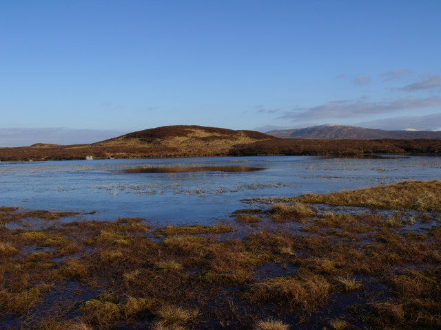Ice-free pool on lochan to the north of Loch Ba on Rannoch Moor