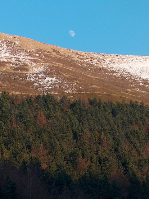 Moon over Birchin Hat Ridge