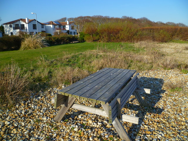 Picnic table on East Beach
