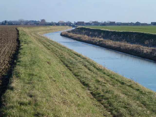Reed's Drain heading towards Tilney Cum Islington