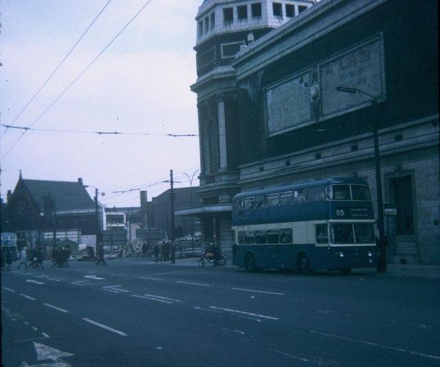 A Bus in Bradford City Centre