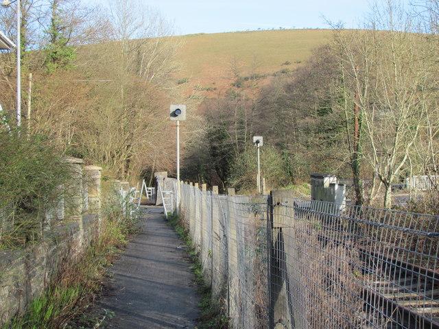 Cycle path running alongside the disused railway