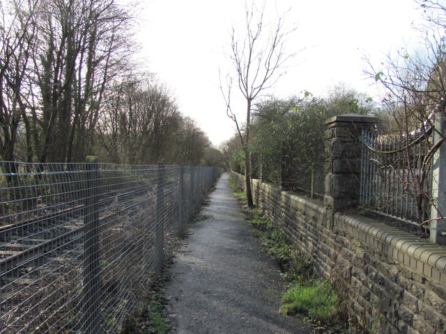 View south from the site of Llangeinor station