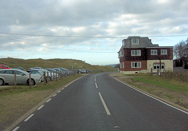 Camber Road north of Rye Golf Course