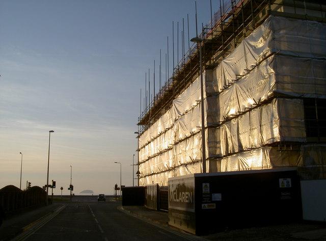 New building under wraps