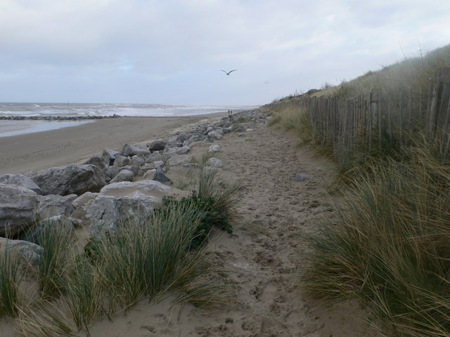 The dunes at Barkby Beach