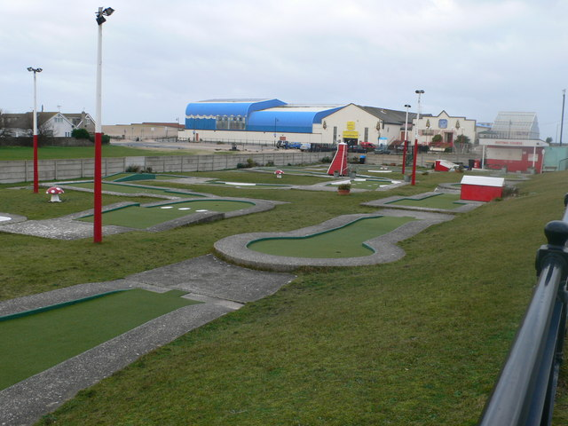 Mini-golf course at Prestatyn