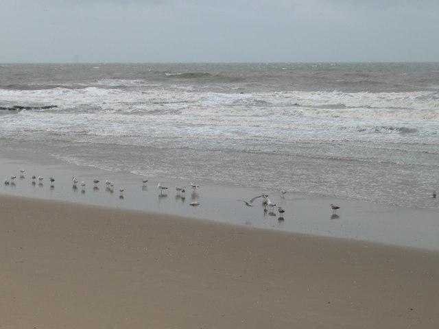 Prestatyn beach in winter