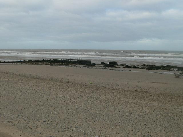 The beach between Rhyl and Prestatyn