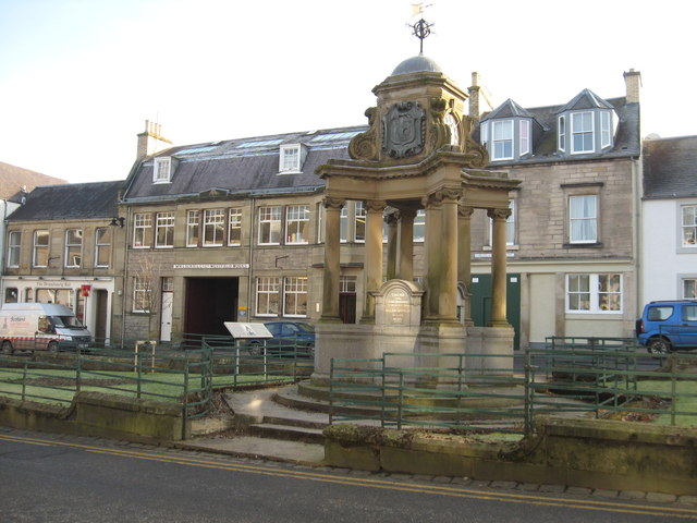 The Brown Memorial Fountain in Hawick