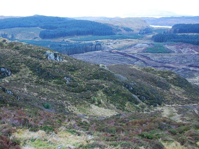 The bealach on the A816 near Salachary