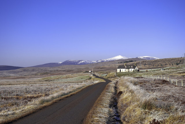 Isolated Croft by the A838