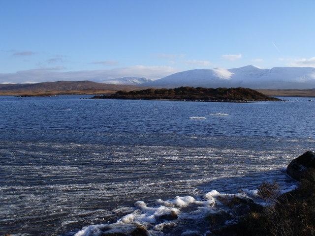 Islets on Loch Ba on Rannoch Moor