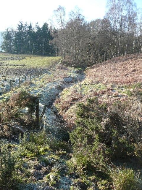 Burn and fence near Cuil an Duin