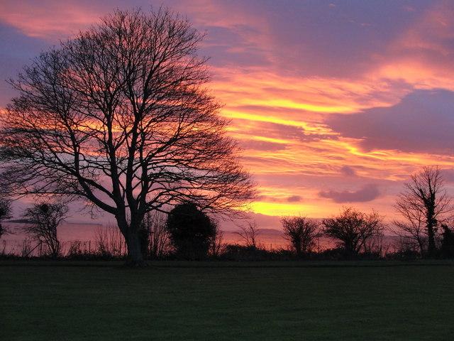 Sunrise over the Bristol Channel