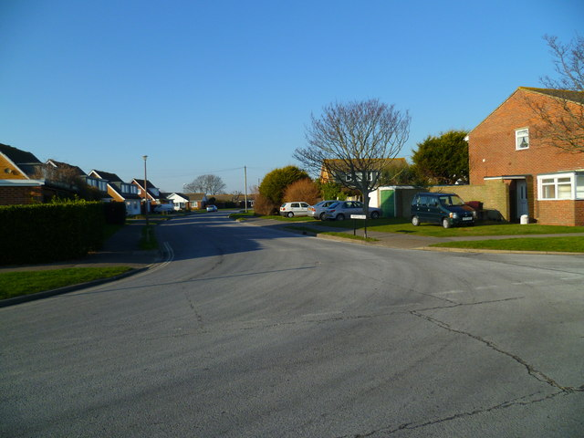 The junction of Merryfield Drive with Kingsway