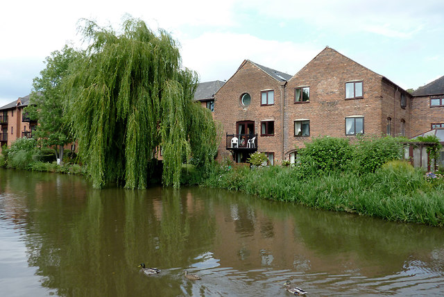 Canalside apartments in Stone, Staffordshire
