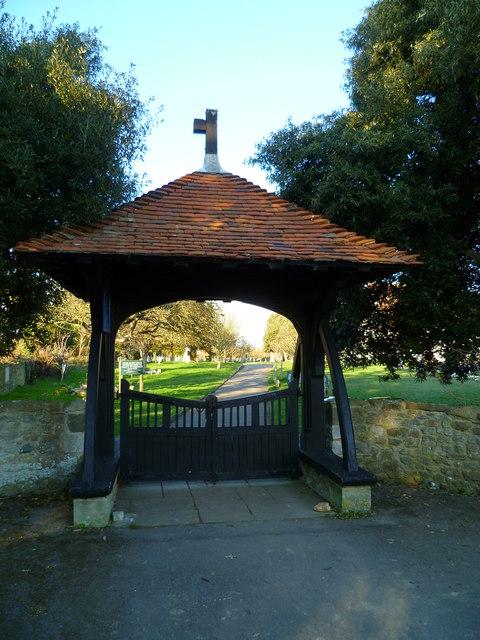 Lych gate at Church Norton