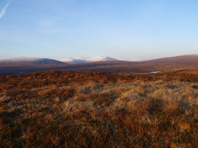 Looking north from low ridgeline near A82 on Rannoch Moor