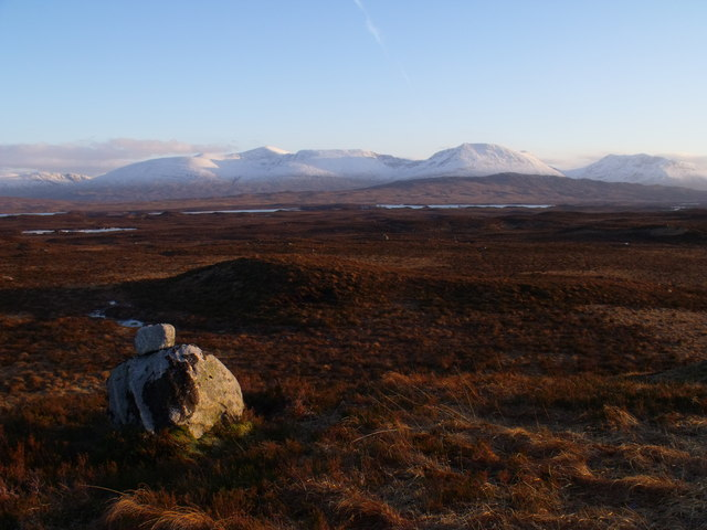 Two erratics on Rannoch Moor