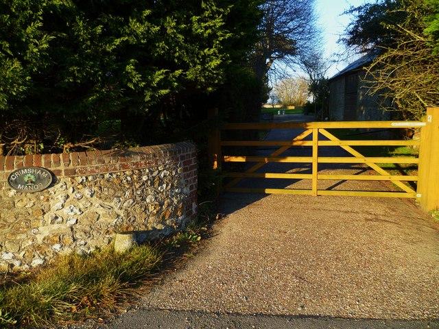 Entrance to Crimsham Manor at Lagness