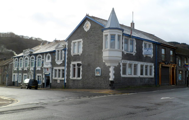 Corner view of Treorchy Conservative Club