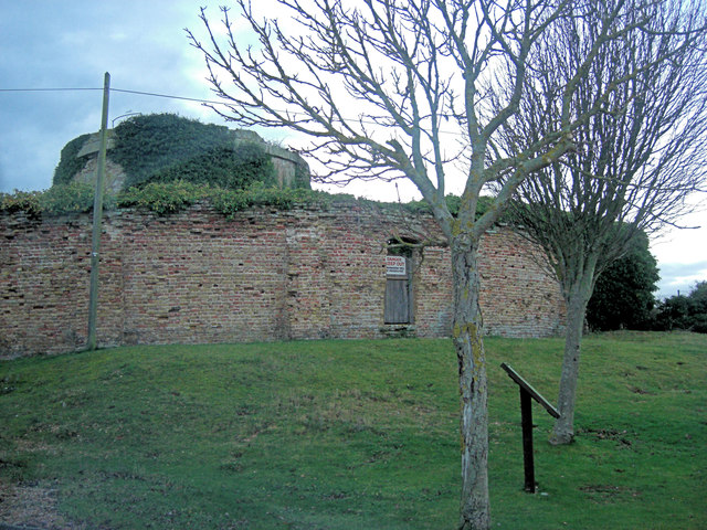 Rye Harbour, Martello Tower and surrounding wall