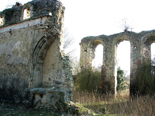 The ruined Cistercian abbey in Sibton
